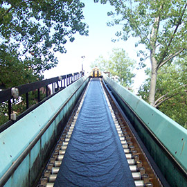 Conveyor belts for amusement park and rides